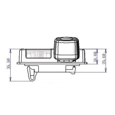 Автомобільна камера заднього виду GT-S6816 для Nissan Teana Прев'ю 3