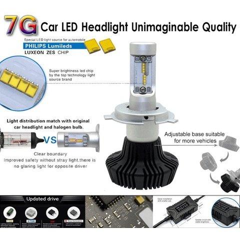 Набір світлодіодного головного світла UP-7HL-H7W-4000Lm (H7, 4000 лм, холодний білий) Прев'ю 2