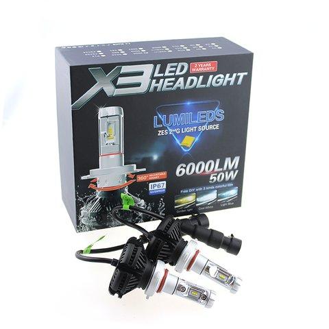 Набор светодиодного головного света UP-X3HL-H1W-6000LM (H1, 6000 лм, холодный белый) Превью 1