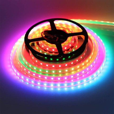 Світлодіодна стрічка RGB SMD5050, WS2815 (чорна, з управлінням, IP20, 12 В, 30 діодів/м, 5 м) Прев'ю 2