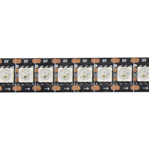 RGB LED Strip SMD5050, WS2813 (with controls, black, IP20, 5 V, 144 LEDs/m, 1 m) Preview 2